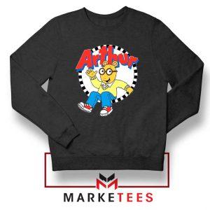 Arthur Cartoon Children Black Sweatshirt