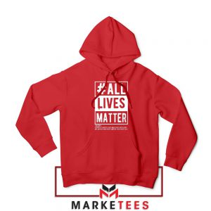 All Life Matter Movement Red Hoodie