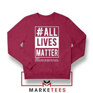 All Life Matter Movement Red Sweatshirt
