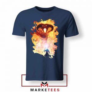 Balrog Monster Scary Navy Blue Tshirt