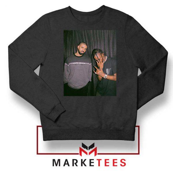 Drake and Travis Scott Black Sweatshirt