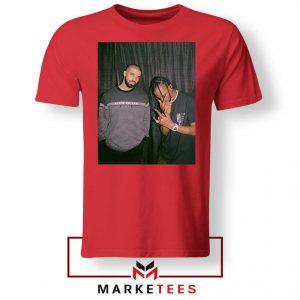Drake and Travis Scott Performing Red Tee