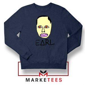 Earl Odd Future Design Navy Blue Sweatshirt