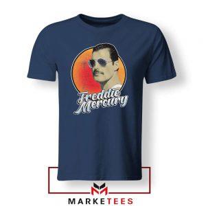 Freddie Mercury Sunglasses Navy Blue Tshirt