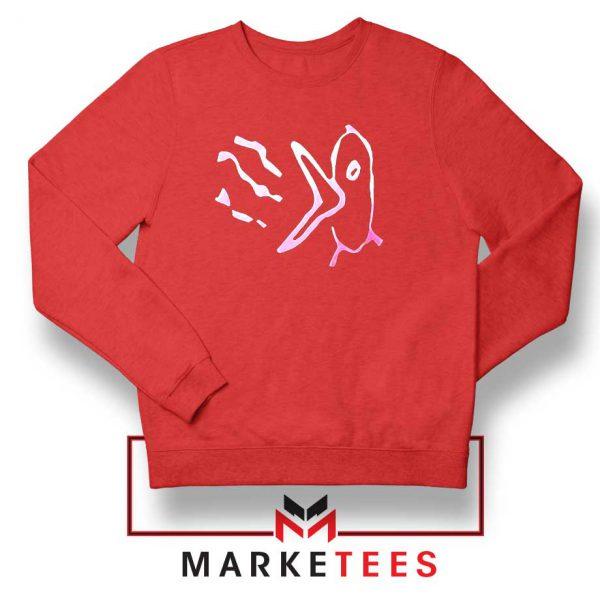 Gustav Ahr Bird Logo Red Sweatshirt
