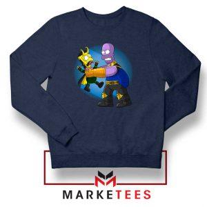 Loki Little God of Mischief Navy Sweater