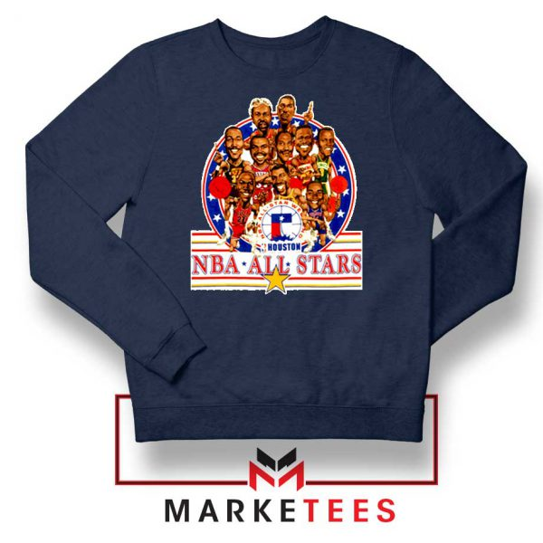 New NBA 1989 All Star Navy Blue Sweatshirt