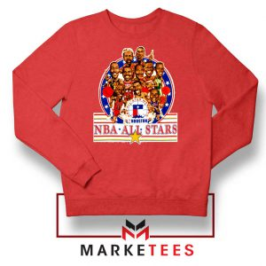 New NBA 1989 All Star Red Sweatshirt
