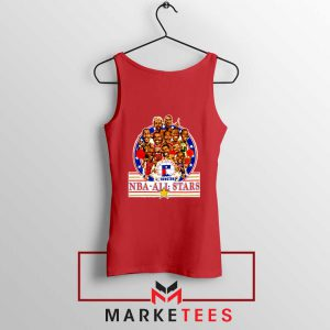 New NBA 1989 All Star Red Tank Top