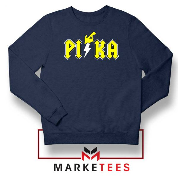 New Pika Pokemon Designs Navy Blue Sweatshirt