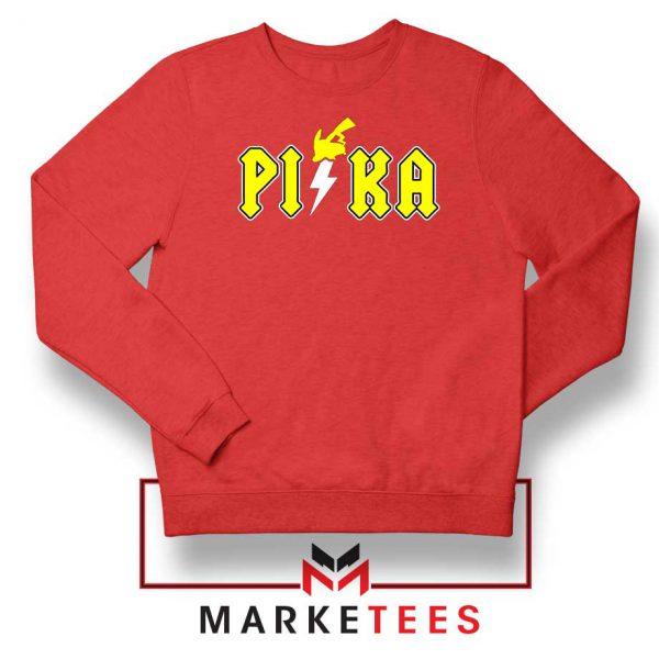 New Pika Pokemon Designs Red Sweatshirt