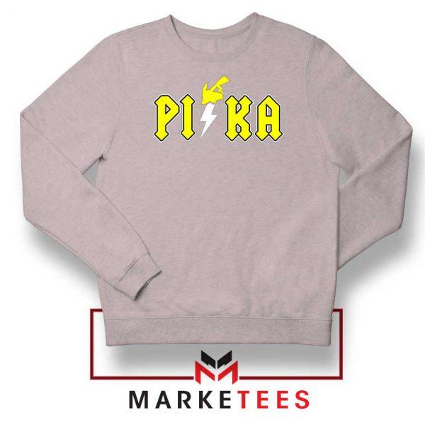 New Pika Pokemon Designs Sport Grey Sweatshirt
