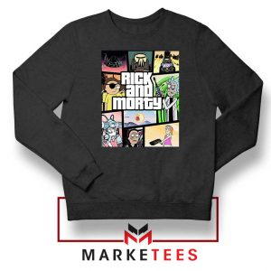 New Rick and Morty GTA Logo Sweatshirt