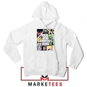 New Rick and Morty GTA Logo White Jacket