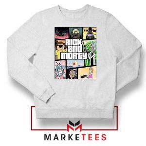 New Rick and Morty GTA Logo White Sweatshirt