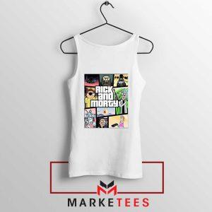 New Rick and Morty GTA Logo White Tank Top