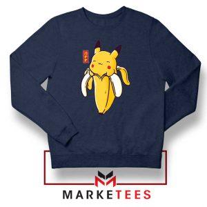 Pikachu Banana Navy Blue Sweatshirt