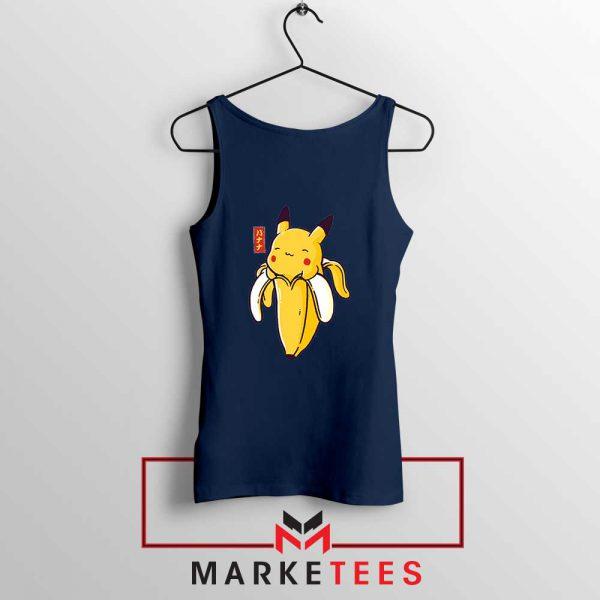 Pikachu Banana Navy Blue Tank Top