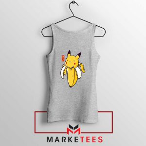 Pikachu Banana Sport Grey Tank Top
