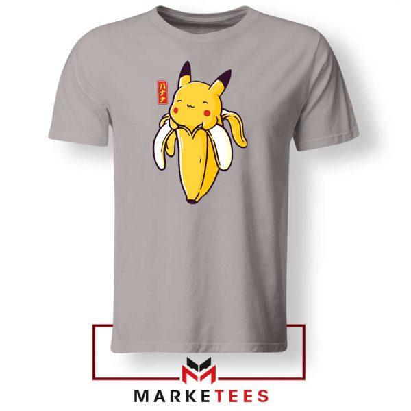 Pikachu Banana Sport Grey Tshirt
