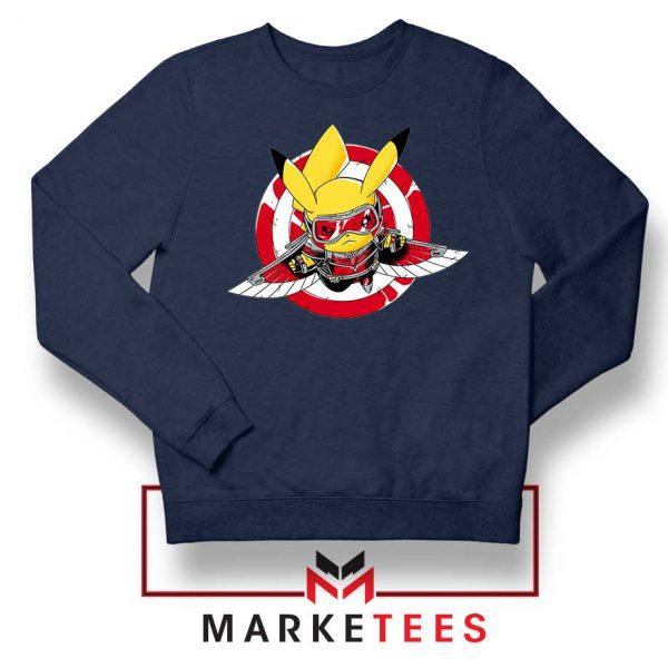 Pikachu The Falcon Design Navy Blue Sweater