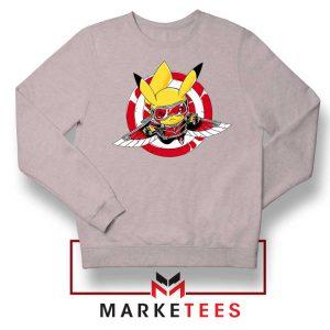 Pikachu The Falcon Design Sport Grey Sweater
