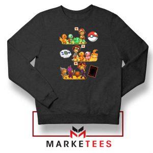 Pokemon Digimon Anime Series Black Sweater