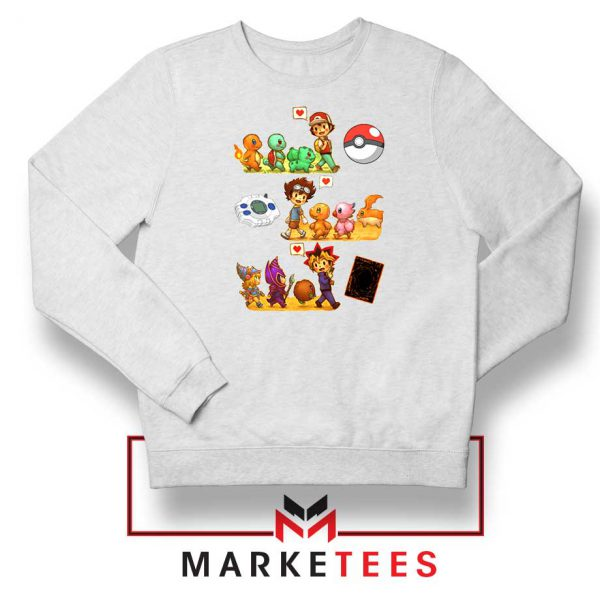 Pokemon Digimon Anime Series Sweater
