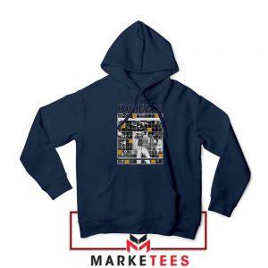 Queen Freddie Grid Designs Navy Blue Hoodie