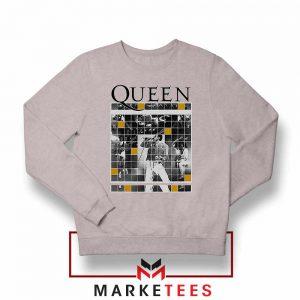 Queen Freddie Grid Designs Sport Grey Sweater