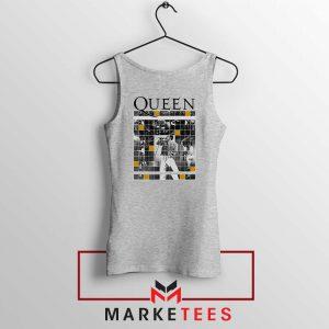 Queen Freddie Grid Designs Sport Grey Tank Top