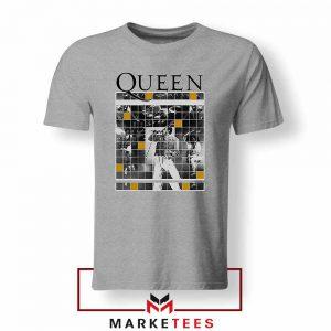 Queen Freddie Grid Designs Sport Grey Tshirt