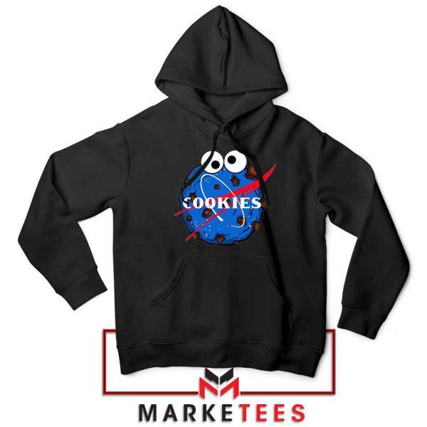 Space Cookies Funny Black Hoodie