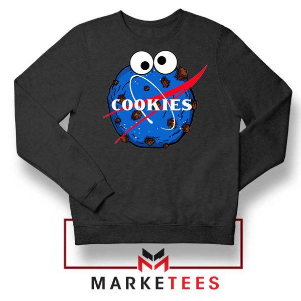 Space Cookies Funny Black Sweatshirt