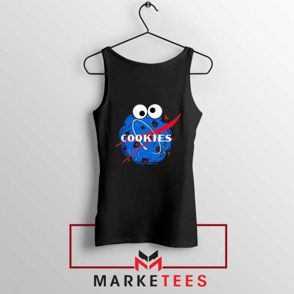Space Cookies Funny Black Tank Top