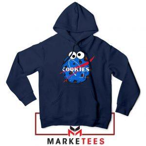 Space Cookies Funny Navy Blue Hoodie