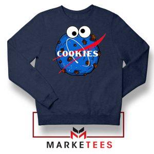 Space Cookies Funny Navy Blue Sweatshirt
