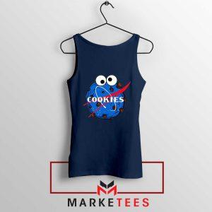 Space Cookies Funny Navy Blue Tank Top