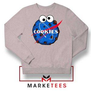 Space Cookies Funny Sport Grey Sweatshirt