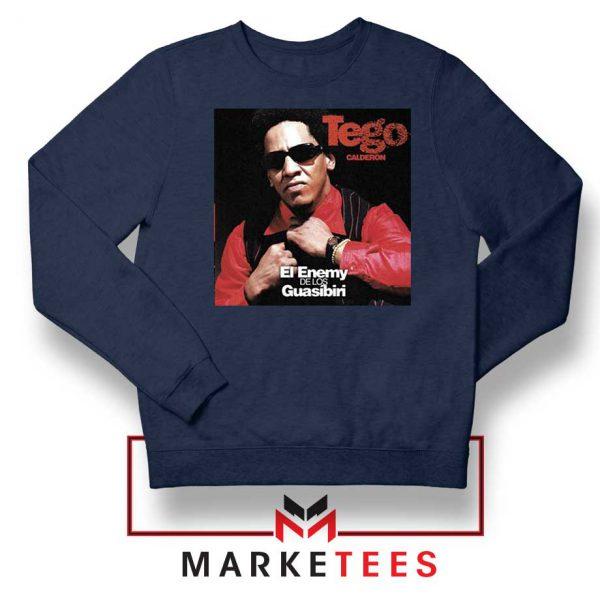 Tego Calderon First Album Navy Sweater