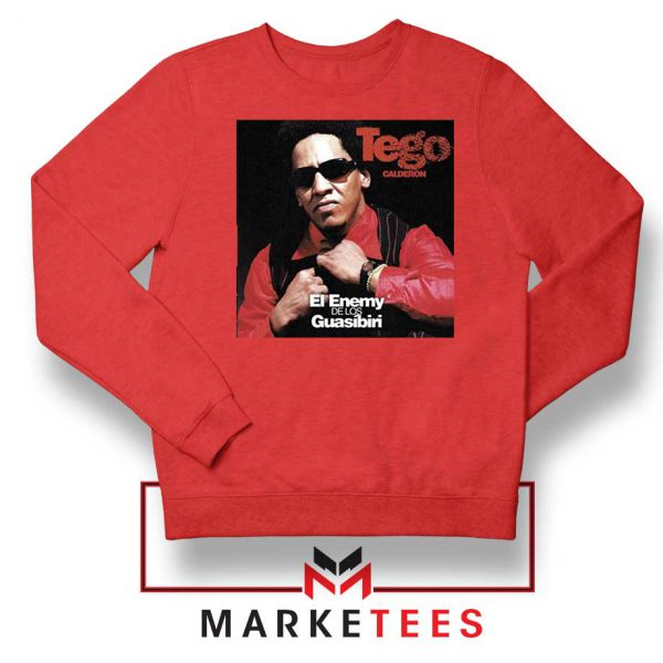Tego Calderon First Album Red Sweater