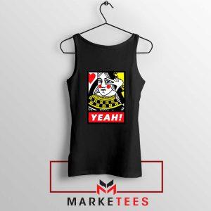 Yeah Poker Queen Design Tank Top