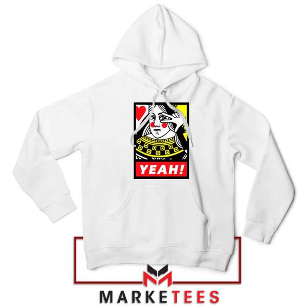 Yeah Poker Queen Design White Jacket