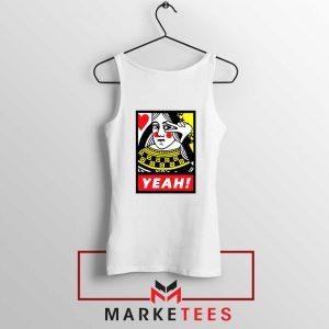 Yeah Poker Queen Design White Tank Top