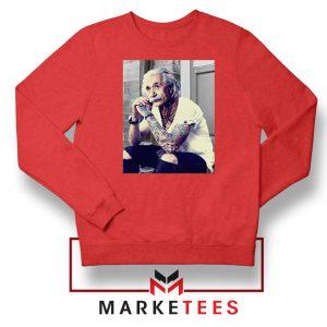 Albert Einstein Tattoo Red Sweatshirt