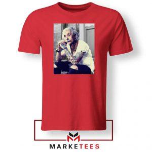 Albert Einstein Tattoo Red Tshirt