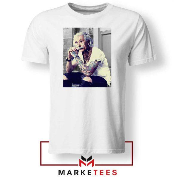 Albert Einstein Tattoo White Tshirt