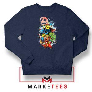 Avengers Pokemon Superhero Navy Blue Sweatshirt