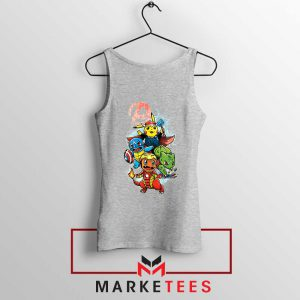 Avengers Pokemon Superhero Sport Grey Tank Top
