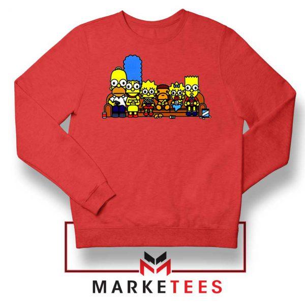 Baby Milo Simpson Family REd Sweatshirt
